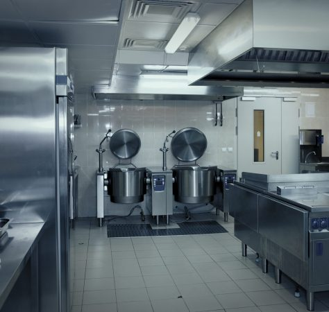 Typical kitchen of a restaurant shot in operation